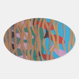 Pegatina Ovalada Subacuático