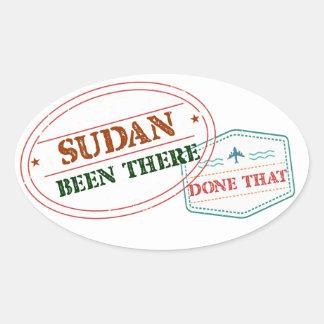 Pegatina Ovalada Sudán allí hecho eso