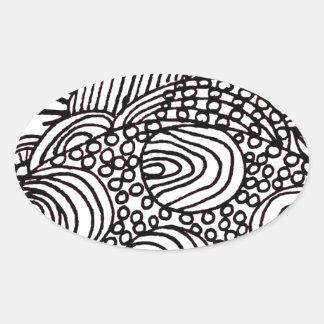 Pegatina Ovalada swirlysun