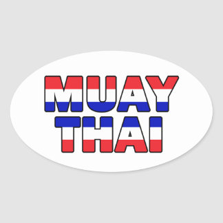 Pegatina Ovalada Tailandés de Muay
