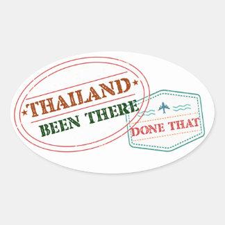 Pegatina Ovalada Tailandia allí hecho eso