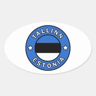Pegatina Ovalada Tallinn Estonia
