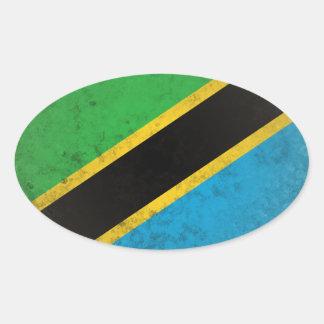 Pegatina Ovalada Tanzania