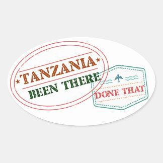 Pegatina Ovalada Tanzania allí hecho eso