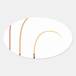 Pegatina Ovalada Tecnología doblada del clip art del ejemplo del