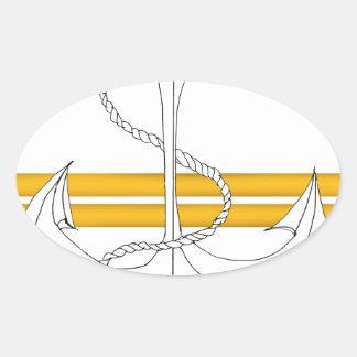 Pegatina Ovalada teniente del oro, fernandes tony