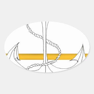 Pegatina Ovalada teniente sub del oro, fernandes tony