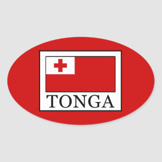Pegatina Ovalada Tonga