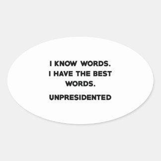 Pegatina Ovalada Unpresidented