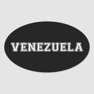 Pegatina Ovalada Venezuela
