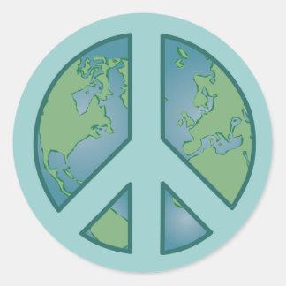Pegatina pacífico de la tierra