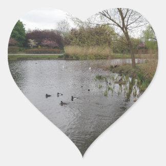 Pegatina pacífico del corazón de la naturaleza