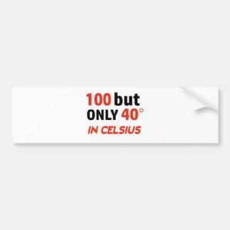Pegatina Para Coche 100o diseño divertido del cumpleaños