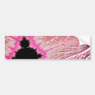 Pegatina Para Coche 108-11 Mandy negra en campo rosado metálico