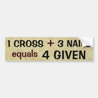 Pegatina Para Coche 1 cruz más 3 iguales de los clavos perdonados