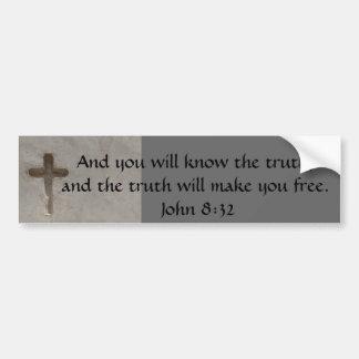 Pegatina Para Coche 8:32 inspirado de Juan de la VERDAD del verso de