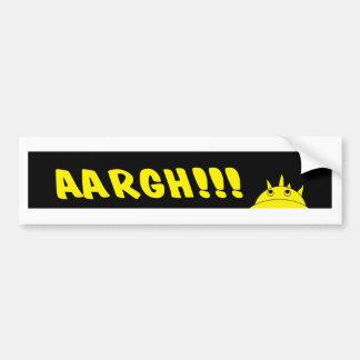 Pegatina Para Coche AArgH, enojado