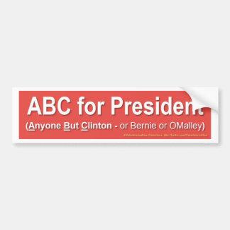 Pegatina Para Coche ABC para el presidente (cualquier persona