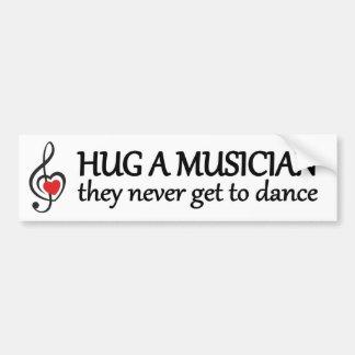 Pegatina Para Coche abrace a un músico que nunca consiguen bailar