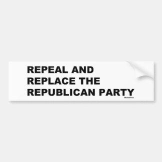 Pegatina Para Coche Abrogue y substituya al Partido Republicano