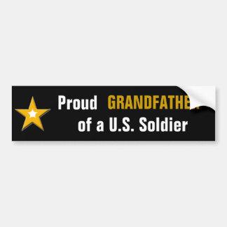 Pegatina Para Coche Abuelo orgulloso de una familia de los militares