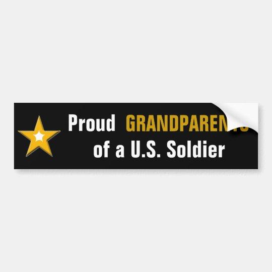 Pegatina Para Coche Abuelos orgullosos de un soldado de los E.E.U.U.