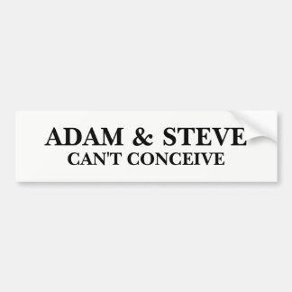Pegatina Para Coche Adán y Steve