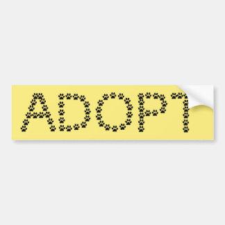 Pegatina Para Coche Adopte un color del personalizado del perro o del