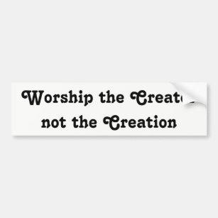 Pegatina Para Coche adore al creador no la creación 12dd897d7fe