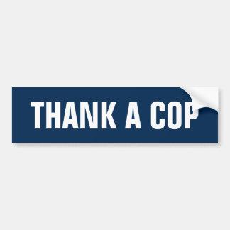 Pegatina Para Coche Agradezca un poli