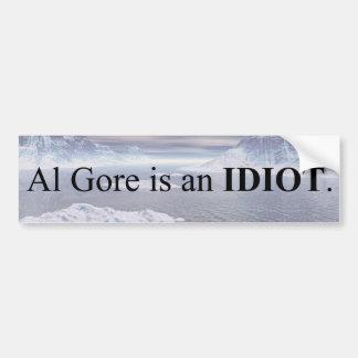Pegatina Para Coche Al Gore es un idiota