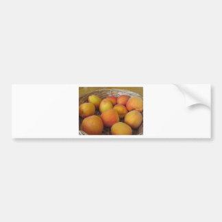Pegatina Para Coche Albaricoques frescos en una cesta de mimbre