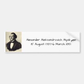 Pegatina Para Coche Aleksandr Aleksandrovich Alyabyev