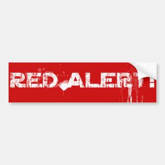 Pegatina Para Coche ¡Alerta roja!   Clásico