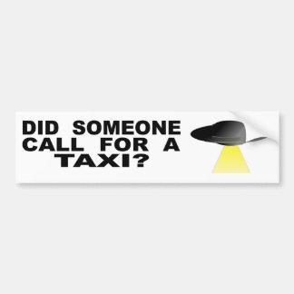 Pegatina Para Coche ¿Alguien pidió un taxi?