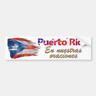 Pegatina Para Coche Alivio de Puerto Rico - en nuestros rezos