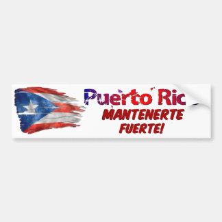 Pegatina Para Coche ¡Alivio de Puerto Rico - estancia fuerte!