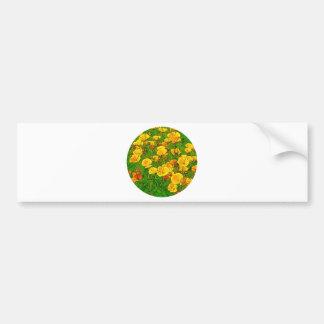 Pegatina Para Coche Amapolas de California anaranjadas 2.2_as
