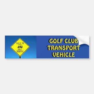 Pegatina Para Coche Amarillo del vehículo de transporte del club de