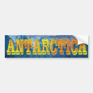 Pegatina Para Coche Amarillo-naranja intrépido de la Antártida South