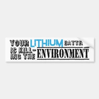 Pegatina Para Coche Ambiente de las baterías de litio