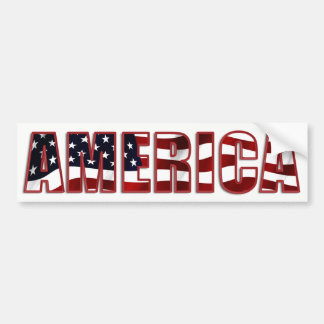 Pegatina Para Coche América colorida y patriótica