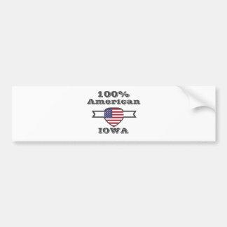 Pegatina Para Coche Americano del 100%, Iowa