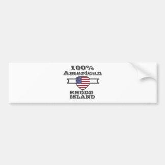 Pegatina Para Coche Americano del 100%, Rhode Island