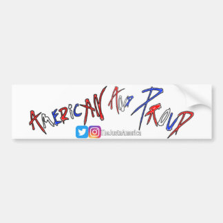 Pegatina Para Coche Americano y orgulloso