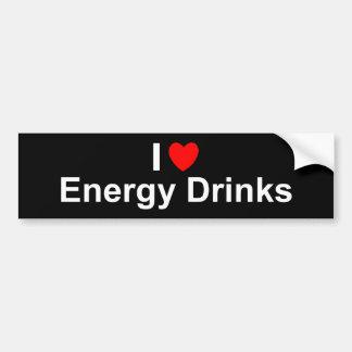 Pegatina Para Coche Amo bebidas de la energía del corazón