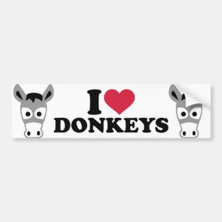 Pegatina Para Coche Amo burros