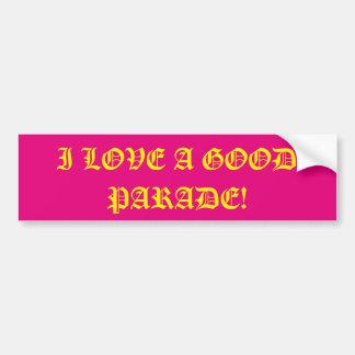 Pegatina Para Coche ¡Amo desfiles!