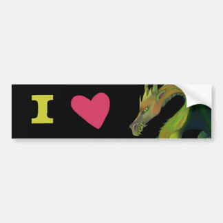 Pegatina Para Coche Amo dragones