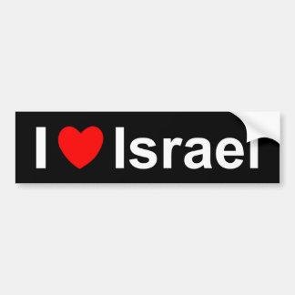 Pegatina Para Coche Amo el corazón Israel